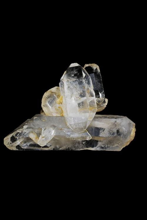 Zeer speciale ruwe bergkristal dubbelpunten, 7.5 cm x 5 cm x 3 cm, 66 gram, ruw, dubbeleinde, dubbeleinder, dubbelpunt, punter, bergkristal, helder, kopen, clear quartz, rock quartz