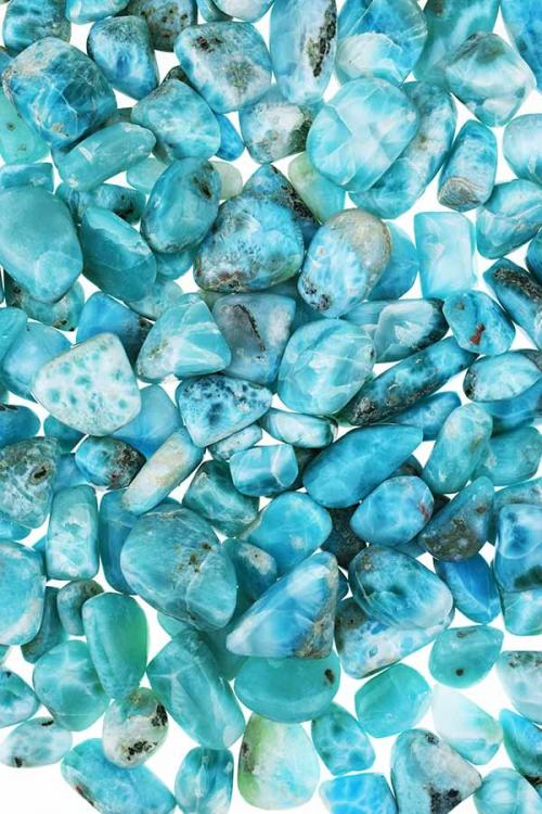 Larimar uit de Domenicaanse Republiek, Larimar steen, handgepolijst. trommelsteen, knuffelsteen, stenen, edelstenen, mineralen, edelsteen, blauw, kopen,