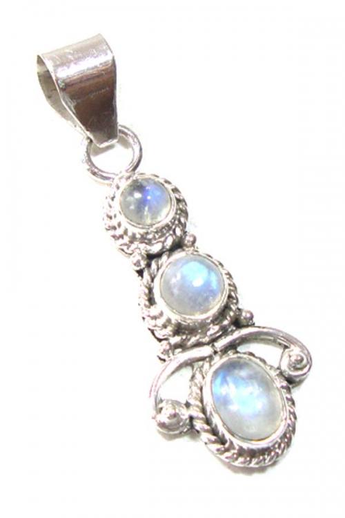 zilveren regenboog maansteen hanger, Regenboog Maansteen zilveren hanger, 925 sterling, kopen, moonstone