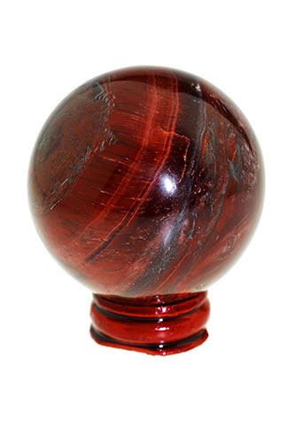 rode tijgeroog bol, edelsteen bol, edelsteen bollen, edelstenen bol, informatie, werking,