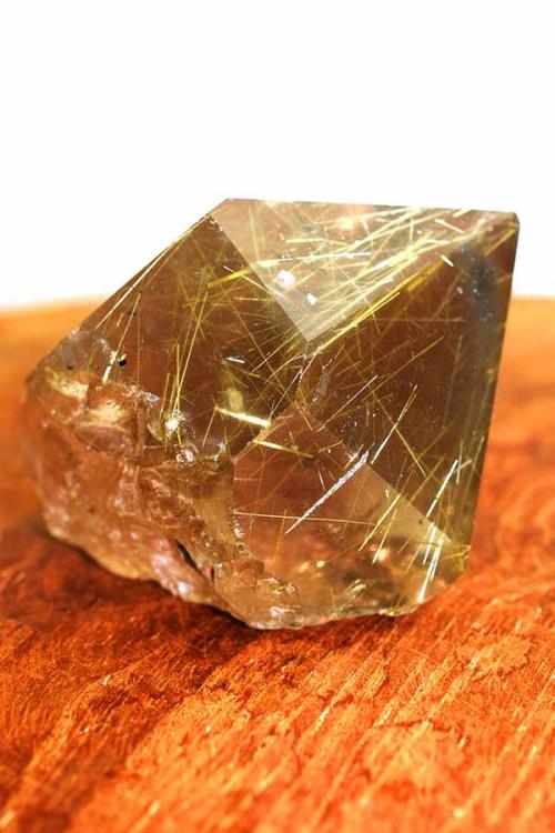 goud rutiel in rookkwarts punt, golden rutile, gold rutile, kopen, edelsteen, rookkwarts punt