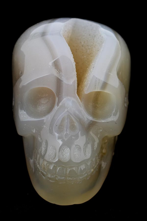 witte agaat kristallen schedel, white agate crystal skull, kopen