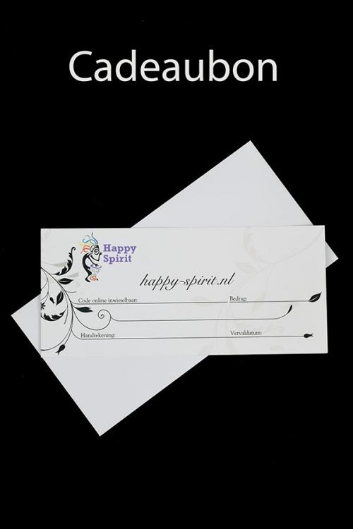 Cadeaubon Happy Spirit, kadobon, tegoedbon, tegoed, korting, waarde, coupon