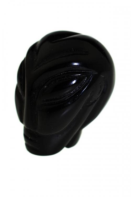 Obsidiaan Alien kristallen schedel, 4.5 cm, obsidian crystal alien skull, kopen