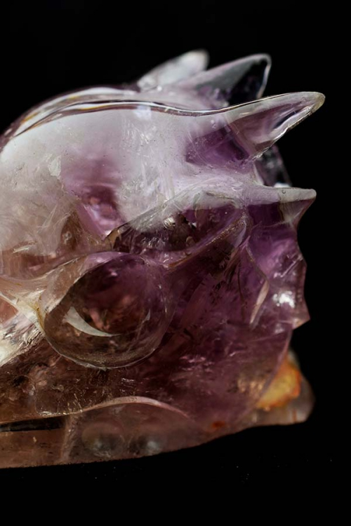 ametrien drakenschedel, ametrien kristallen drakenschedel, draak, dragon, dragon skull, ametrine, amethist, amethyst, citrien, bergkristal, kopen