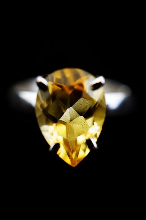 citrien ring, edelsteen ring, edelstenen ring, zilver, zilveren, kopen