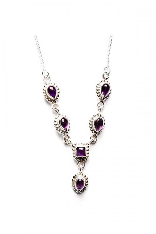 amethist ketting, zilveren ketting, 925 sterling zilver, kopen, amethyst, siler, sieraden, sieraad, edelstenen, edelsteen