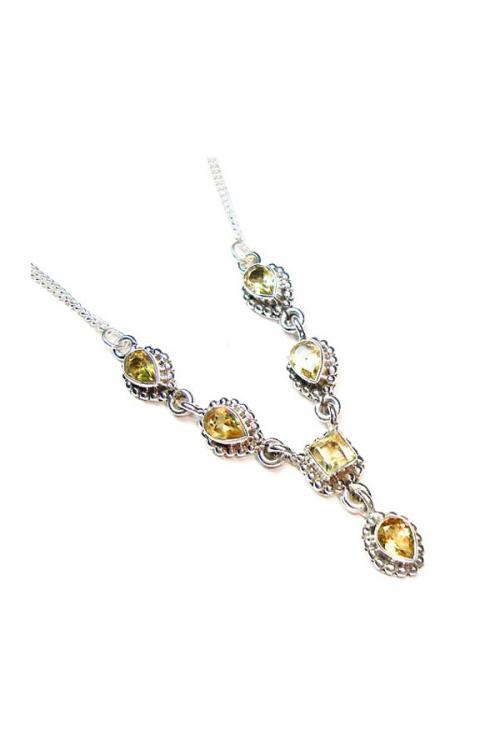 citrien ketting, citrien zilveren ketting, zilver, kopen, citrine necklace, juwelen, edelstenen, edelsteen