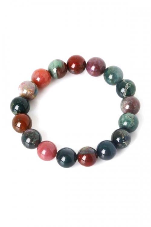 bloedsteen armband, heliotroop armband, powerbead armband, edelsteen armband, edelstenen armband, groen, rood, kopen