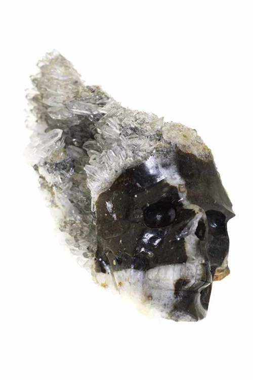 Bergkristal heldere cluster kristallen schedel, clear quartz cluster skull, kopen, bergkristal groep, speciale schedel, kopen