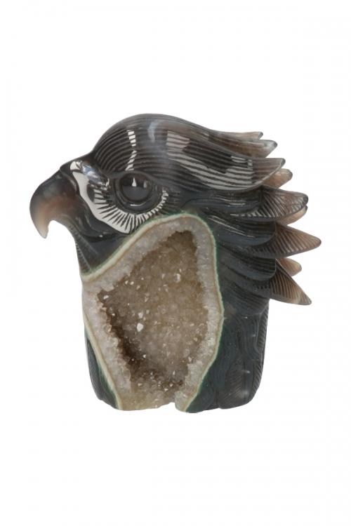 kristallen adelaar, geode adelaar, edelstenen, edelsteen, chloriet, bergkristal, agaat, edelsteen adelaar, steen
