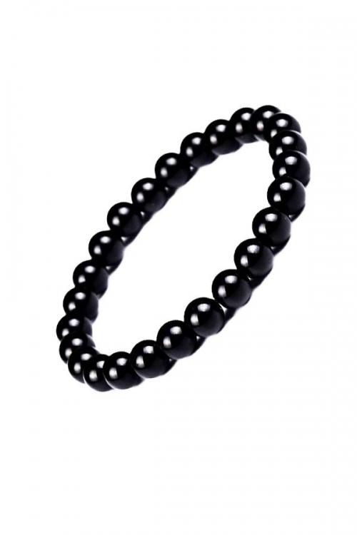 Obsidiaan armband, powerbead. 8 mm, 17 cm, EDELSTEEN ARMBAND, EDELSTENEN, GEMSTONE BRACELET, OBSIDIAN, kopen