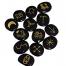 Heksen runen set, obsidiaan, 13 stuks, rune set, heks, witch, kopen, ritueel, ritual