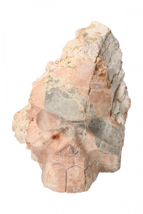 Roze Dolomiet kristallen schedel, 15 cm, 1.09 kilo
