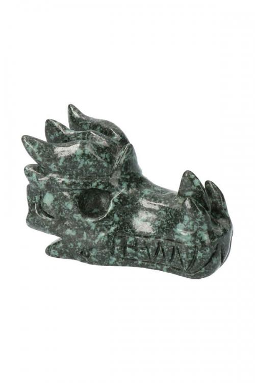 Chloriet kristallen draak, chloriet drakenschedel, chloriet draak, chlorite dragon, crystal dragon, dragon skull, kopen