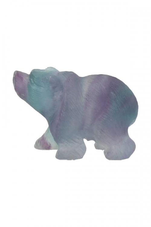 regenboog fluoriet beer, rainbow fluorite bear, beertje, edelsteen beer, edelstenen beer, kopen