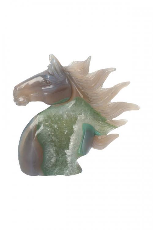 Chloriet geode paard, kopen, chlorite, agate, horse, paarden