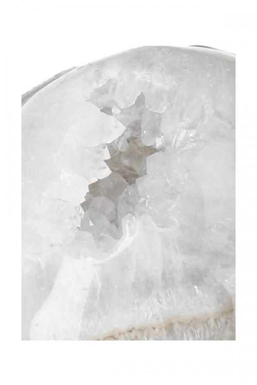 Bergkristal met Golden Healer, Dendriet en Agaat kristallen geode schedel, Agaat met Bergkristal Geode kristallen schedel, kopen, clear quartz, crystal skull, kristallen schedel