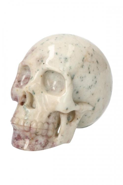 realistische schedel, crystal skull, edelsteen schedel, lepidoliet kristallen schedel, kopen, crystal skull
