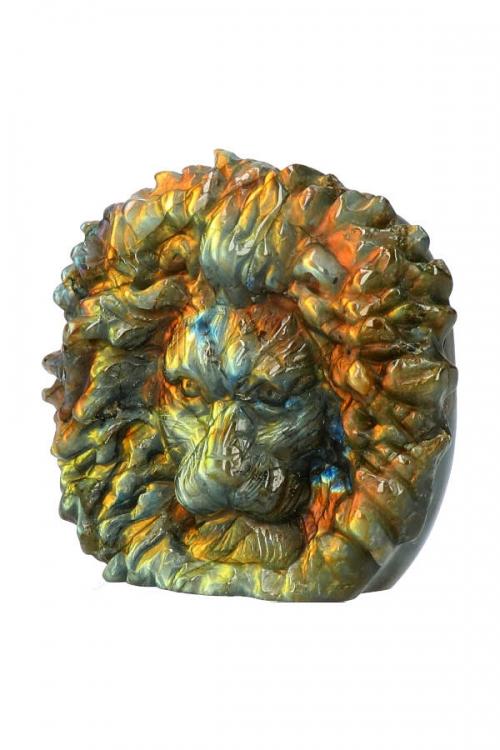 Labradoriet Leeuw, Top Carving, labradorite lion, sculptuur, beeld, kopen