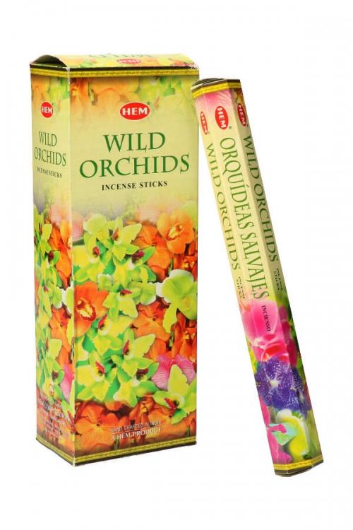 Wild Orchids wierook HEM, Wilde Orchidee, wierook stokken, stokjes, HEM, hexagonaal, incense, kopen