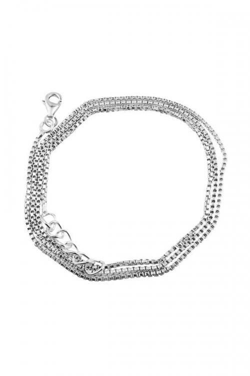 925 sterling zilveren ketting, 47-49.5 cm, silver chain, collier, hanger, sieraden, sieraad, juwelen, juweel, kopen, blok ketting