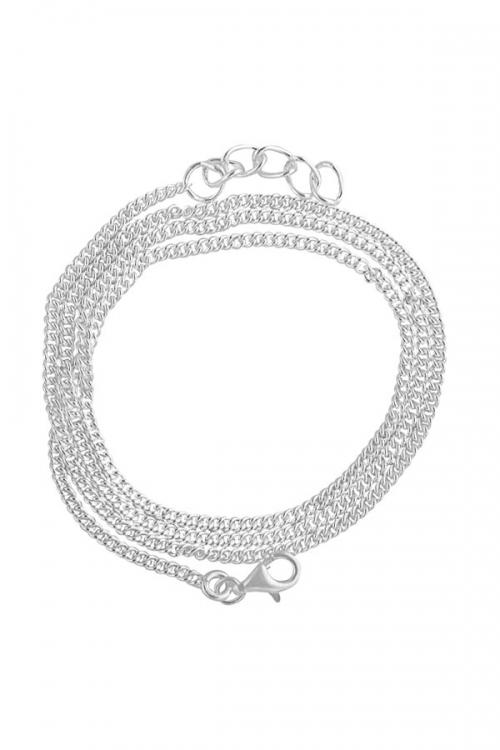 model sonara, 925 sterling zilveren ketting, 47-49.5 cm, silver chain, collier, hanger, sieraden, sieraad, juwelen, juweel, kopen