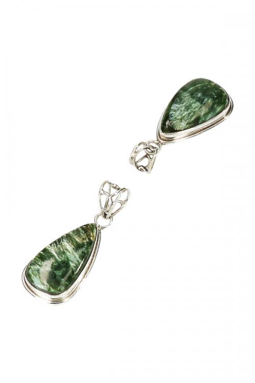 Serafiniet zilveren hanger druppel, 925 sterling, 3 cm, seraphinite, serafiniet zilveren hanger, kopen, edelsteen sieraad, sieraden, edelstenen, juwelen, juweel