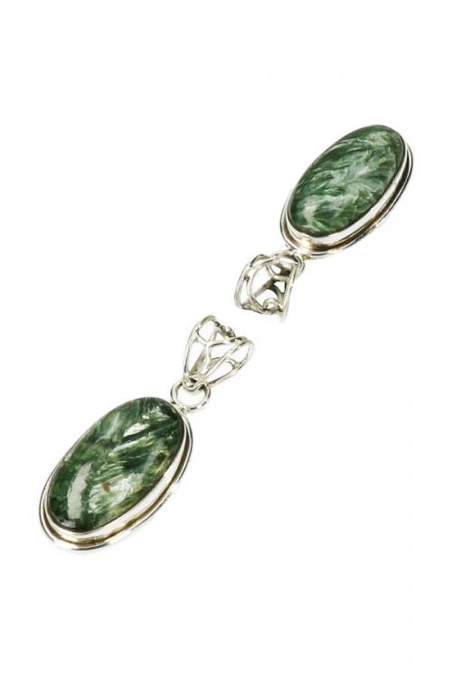 Serafiniet zilveren hanger ovaal, 925 sterling, 3 cm, seraphinite, serafiniet zilveren hanger, kopen, edelsteen sieraad, sieraden, edelstenen, juwelen, juweel