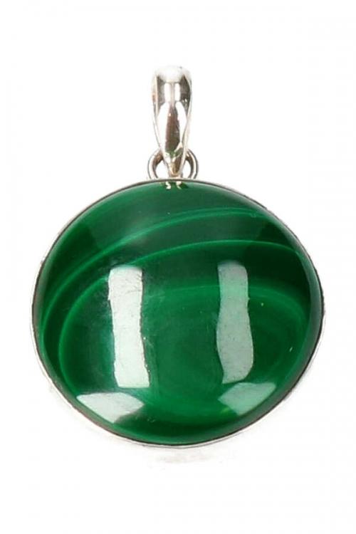 malachiet hanger, zilveren, zilver, pendant, ketting, malachite, groen, edelstenen, kopen, koop, sale, sieraden, silver