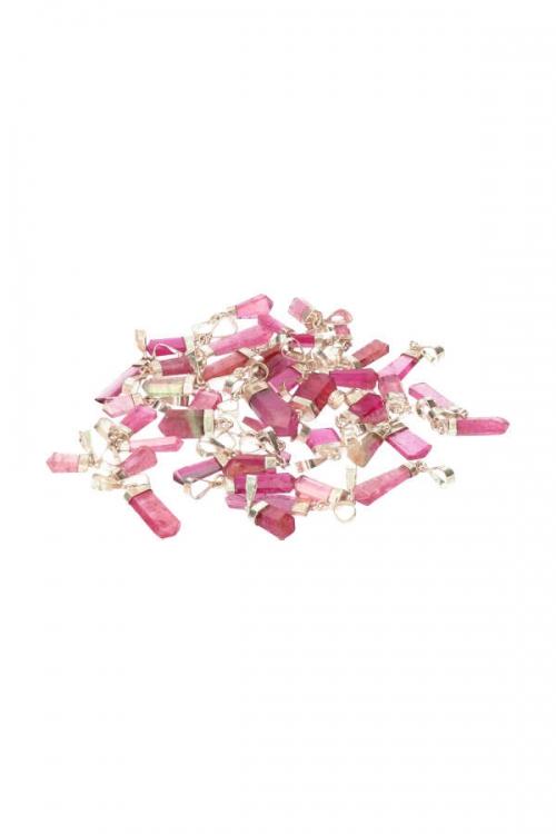 Roze Toermalijn edelsteen hanger, 925 sterling zilver, 5 karaat, 5 cm, pink turmaline, kopen, luxe
