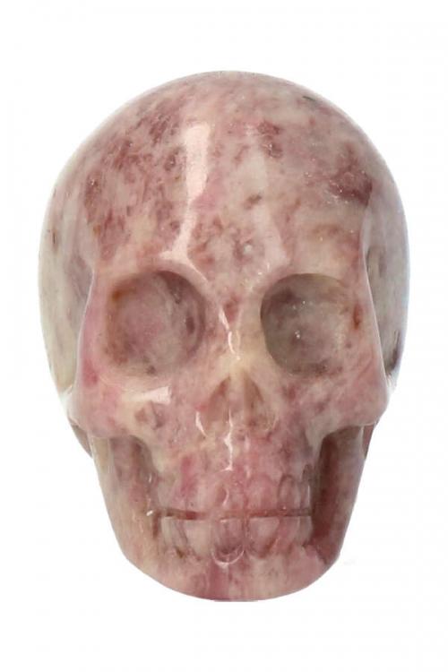 Roze Toermalijn kristallen schedel, pink turmaline crystal skull, kopen