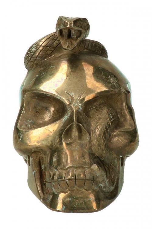 Pyriet slangen kundalini schedel, snake skull, crystal skull, kristallen schedel, slangenschedel, kopen, kundalini, edelsteen slang