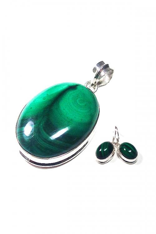 Malachiet oorbellen en hanger, 925 sterling zilver, malachite, sieraden, sieraad, edelsteen, edelstenen, kopen, juwelen, jewelry, pendant, earring, gemstone