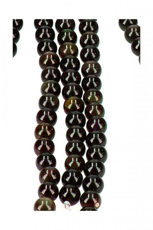 Regenboog Obsidiaan kralen 8 mm, streng 40 cm, circa 49 kralen, rainbow obsidian, kopen, sieraden maken, jewerly findings, toebehoren, edelsteen, edelstenen, ketting, armband, maken