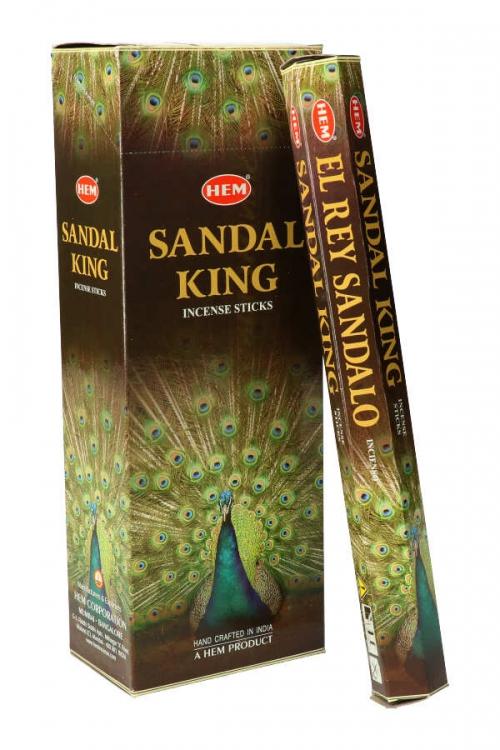 Sandal King wierook (Sandelhout), HEM, wierook stokken, stokjes, HEM, hexagonaal, incense, kopen
