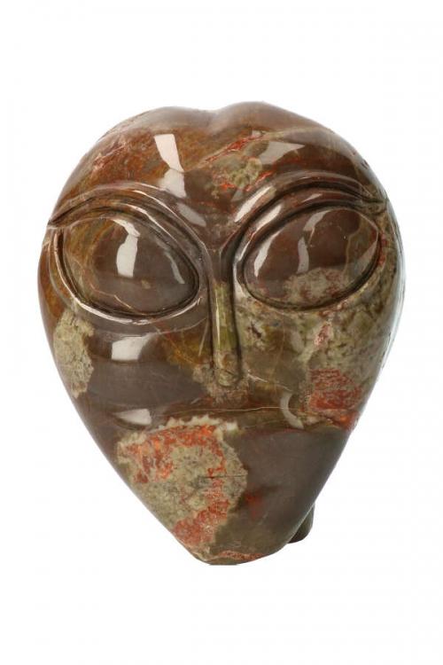 Drakensteen alien kristallen schedel, dragonstone, bastiet, star child, edelsteen alien, stenen alien, gemstone, kopen
