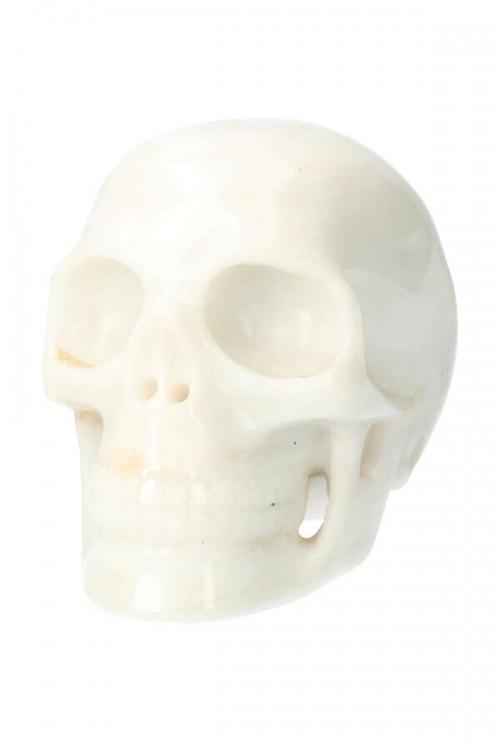 Witte Jade realistische kristallen schedel, white jade crystal skull, witte jade schedel, kopen, edelstenen, edelsteen