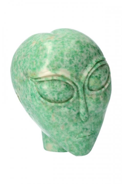 Qinghai Jade alien kristallen schedel, 7.5 cm, 373 gram