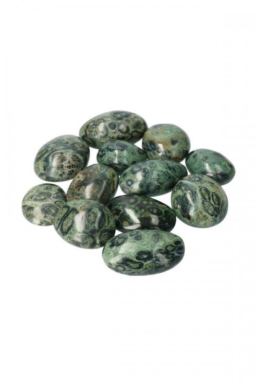 eldariet steen, eldarite stone, knuffelsteen, kambaba jaspis steen, trommelsteen, trommelstenen, gepolijst, kopen