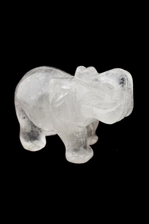 Bergkristal olifant, clear quartz eliphant, kopen, edelsteen olifant, edelstenen, sculptuur, beeldje, kopen