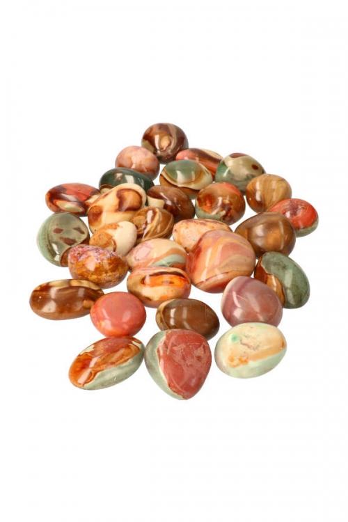 Polychroom Jaspis steen XL,, polychrome stone, polychrome jaspis stenen, jasper, kopen, trommelsteen. knuffelsteen, gepolijst