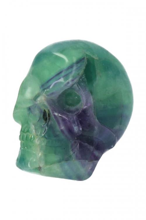 fluoriet kristallen schedel, fluorite crystal skull, arnhem, 7.5 cm, 3 inch,