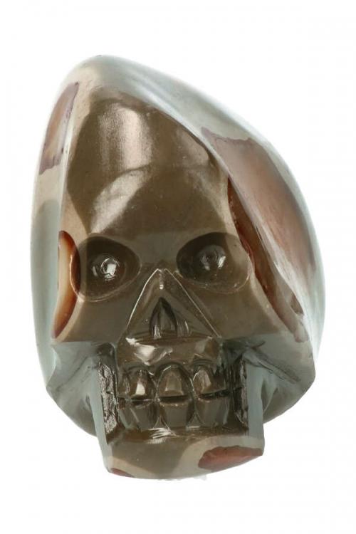 Polychroom Jaspis crystal skull Traveller