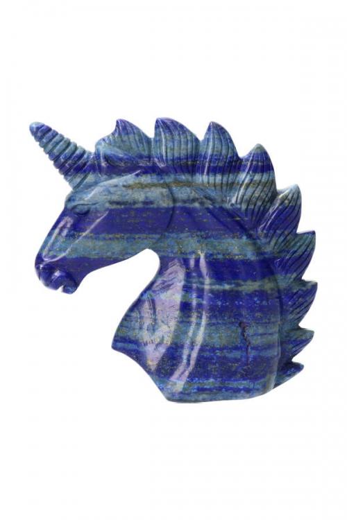 lapis lazuli eenhoorn, lapis unicorn, lapis lazule, kopen, kristallen, edelstenen, edelsteen, paard, carving, beeld, beeldje