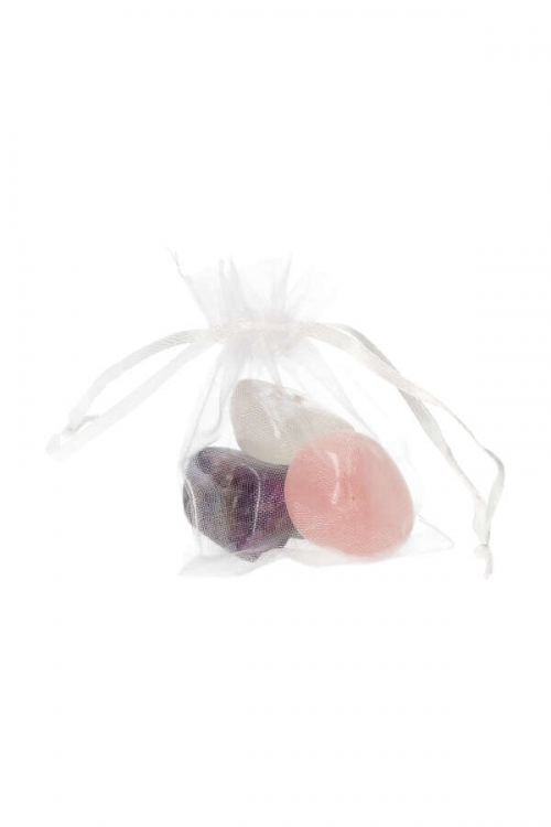 Gouden driehoek, Grote stenen, 4-7 cm, 30 - 70 gram per stuk, bergkristal, clear quartz, trio, amethist, amethyst, rosequartz, rozenkwarts, kopen