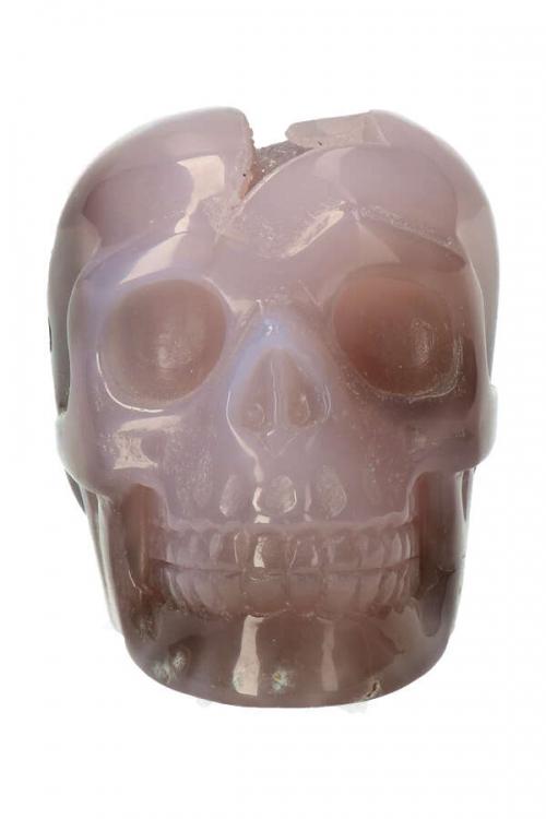 Agaat geode kristallen schedel, kristallen geode schedel, special crystal skull, rare crystal skull, zeldzame kristallen schedel