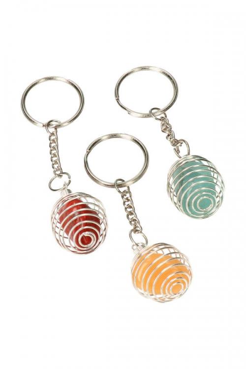 cage, trommelsteen sleutelhanger, edelstenen, kooi sleutelhanger, trommelstenen