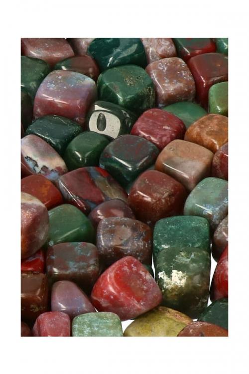 groene bloedsteen stenen, heliotroop, Bloedsteen, bloedsteen steen, getrommeld, knuffelsteen, knuffelstenen, gepolijst, polished, tumbled, tumble stone, bloodstone, kopen, kristal, edelsteen, edelstenen, groene bloedsteen