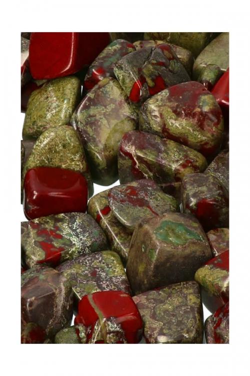 drakenbloedsteen steen, drakenbloedsteen stenen, drakensteen, bastiet, epidoot, zuid afrika, trommelstenen, knuffelsteen, trommelsteen, gepolijst, steen, edelsteen, edelstenen, mineralen, kopen